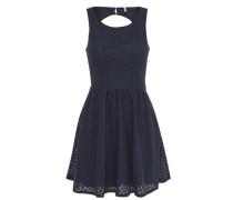 Spitzen-Kleid ohne Ärmel blau