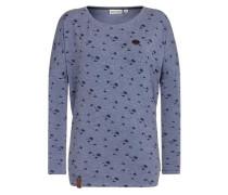 Female Sweatshirt taubenblau / schwarz