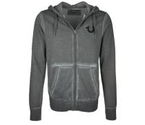 Sweatshirtjacke 'hooded ZIP Jacket Indian' grau