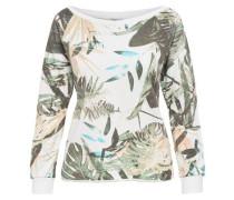 Print-Sweatshirt creme / türkis / hellgrün / weiß