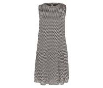 Plissee-Kleid 'lorin' schwarz / weiß