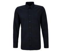 Slim: Gemustertes Two-tone-Hemd blau