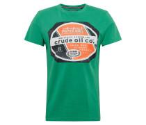 T-Shirt grün / orange