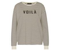 Pullover mit Streifen-Design weiß