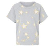 Kurzarmsweater Fleece Stars gelb / grau