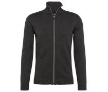 knit Strick-Cardigan basaltgrau