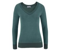 V-Ausschnitt-Pullover petrol / mint