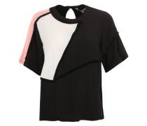 Shirt mit Fransen-Details schwarz / weiß / rosa