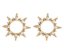 Ohrstecker 'Crystal Open Sun' gold