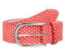 Gürtel mit Polka Dots rot / weiß