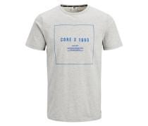 Grafik T-Shirt graumeliert