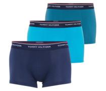 Boxershorts 'Trunk' (3er Pack) navy / türkis / himmelblau