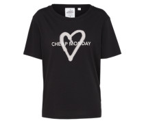 T-Shirt 'Breeze Love logo' schwarz