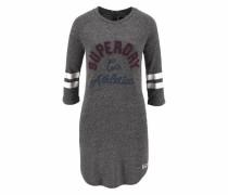 Jerseykleid »Campus Applique Dress« dunkelgrau / dunkelrot / weiß