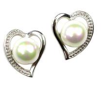 Perlenohrringe 'Heart'
