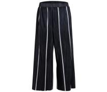 Falten-Culotte-Hose schwarz / weiß