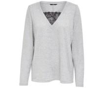 Detailreich Pullover grau