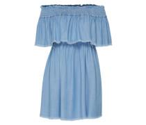 Off-Shoulder-Kleid 'Serene' blue denim