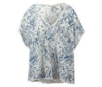 Oversize-Bluse aus Baumwolle 'Flory Beach' blau