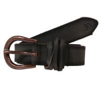 Ledergürtel in Vintage-Optik anthrazit