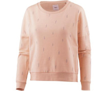 Sweatshirt Damen hellgrau / altrosa