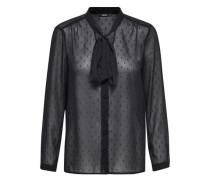 Detailliertes Langarmhemd schwarz