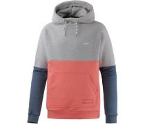 Sweatshirt marine / grau / koralle
