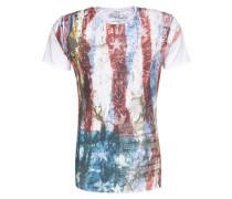 Print-Shirt 'Vegas' weiß