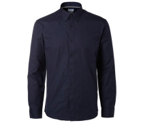 Slim Fit-Langarmhemd blau