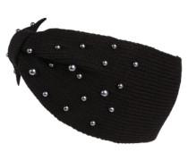 Stirnband 'PearlKnit' schwarz