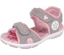 Kinder Sandalen WMS-Weite M4 grau / altrosa