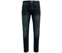Slim Fit Jeans 'Weft' blue denim