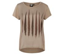 Printshirt 'Pointy' beige