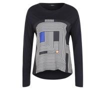Shirt 'Kurkuma' dunkelblau / weiß