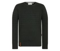 Pullover 'Schmiergelvampir' dunkelgrün