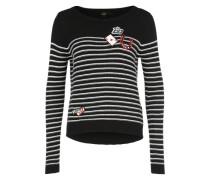 'Dionne' Pullover schwarz / weiß