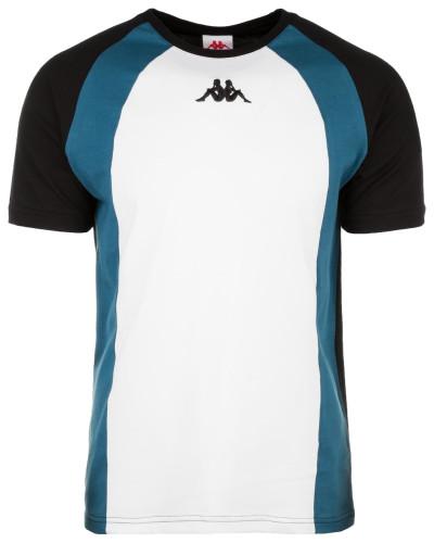 T-Shirt 'Fynn' blau / schwarz / weiß