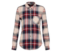 Bluse 'check Core' beige / rot
