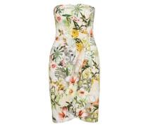 Sommerkleid mit Flower-Print grün / weiß