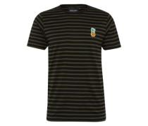 Shirt 'Malo' khaki / schwarz