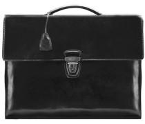 Story Uomo Aktentasche Leder 40 cm schwarz