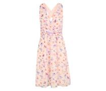 Chiffonkleid mit Allover-Print rosa