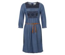 Blusenkleid in Denim-Optik blau