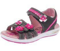 Kinder Sandalen WMS-Weite M4 grau / pink