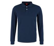 Poloshirt aus Baumwoll-Piqué blau