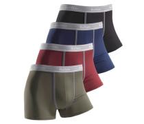 Baumwoll-Boxer (4 Stück) blau / grün / rot / schwarz