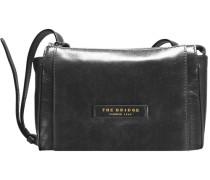 Passepartout Donna Leder Mini Bag Umhängetasche 23 cm schwarz