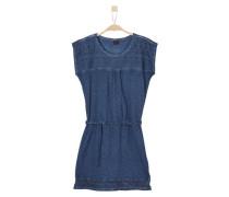Jerseykleid mit Spitze blue denim