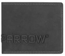 Amsterdam Herren Querformat Geldbörse Leder 12 cm mit Klappfach schwarz
