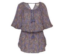 Langes Kleid mit Allover-Muster lila / mischfarben
